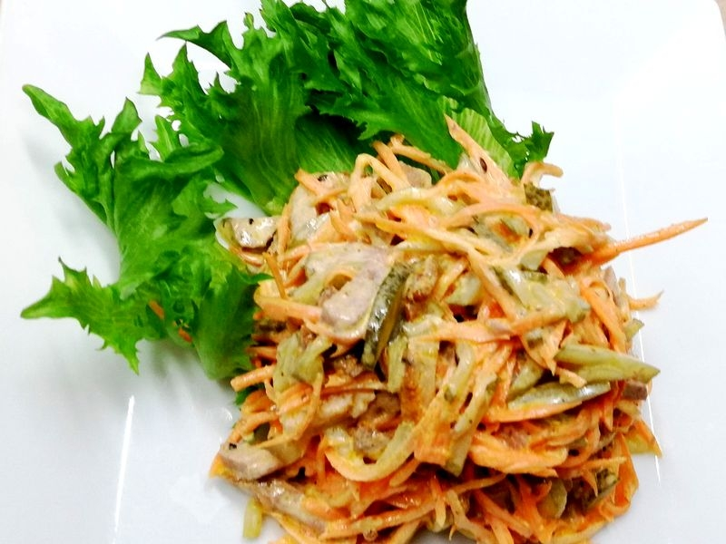 Салат с бужениной и морковью по-корейски 170 гр