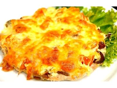 Куриная грудка под сырной корочкой с грибами 200 гр
